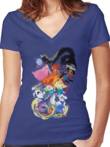 Battle Time!! - Compilation Women's Fitted V-Neck T-Shirt