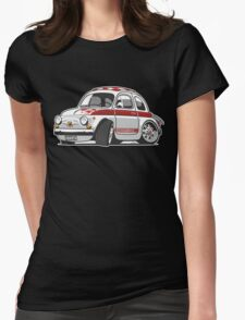 Fiat Abarth 595 caricature Womens Fitted T-Shirt
