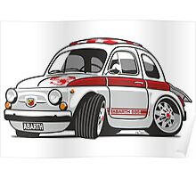 Fiat Abarth 595 caricature Poster