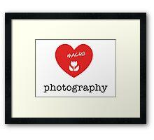 macro photography Framed Print