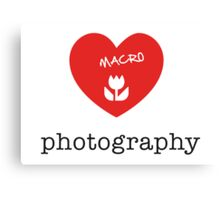 macro photography Canvas Print