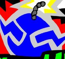 Wario Hurry Up Logo Sticker