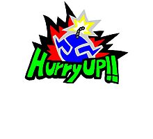 Wario's Hurry Up Logo Photographic Print