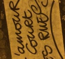 Love runs in the streets Sticker