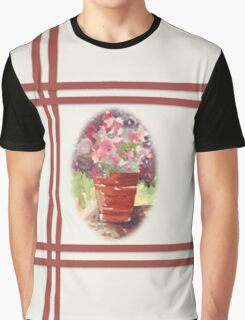 Dianthus in Terracotta Pot Graphic T-Shirt