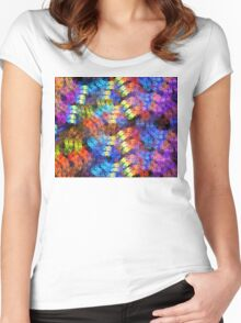 Weave Rainbow Women's Fitted Scoop T-Shirt