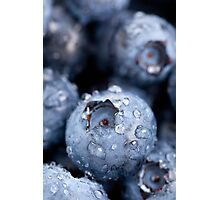 Blueberries macro Photographic Print
