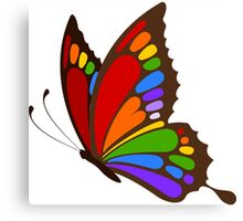 Colorful Rainbow Butterfly Canvas Print