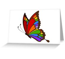 Colorful Rainbow Butterfly Greeting Card