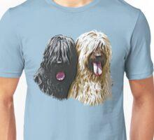 Black & Fawn Briards Unisex T-Shirt