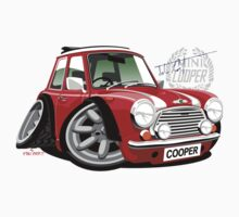 Mini Cooper Rover in red by car2oonz