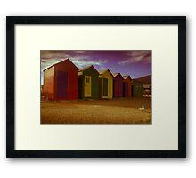 Faded seaside grandeur Framed Print