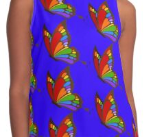 Colorful Rainbow Butterfly Contrast Tank