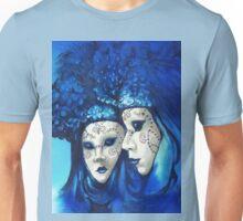 Blue and White Masks Unisex T-Shirt