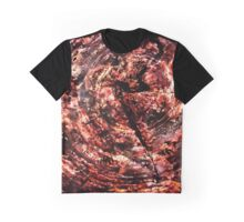 Petrified Tree Rings ~ Red Graphic T-Shirt