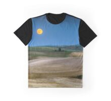 Strawberry Moon in the Palouse Graphic T-Shirt