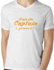 I'm The Captain Get Over It Mens V-Neck T-Shirt