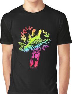 Rainbow Giraffe Graphic T-Shirt