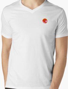 Akai Tsuki Red Moon Mens V-Neck T-Shirt
