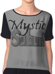 Mystic Suburb Logo Chiffon Top