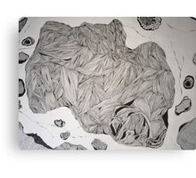 Under the microscope, ink drawing  Canvas Print