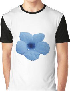 Blue Potato Flower Graphic T-Shirt