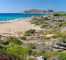 Falassarna, one of the most beautiful beaches of Crete – awarded as the best in Europe by Stanciuc
