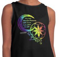 Rainbow Inspirational Dream Quote Contrast Tank