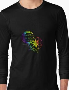 Rainbow Inspirational Dream Quote Long Sleeve T-Shirt