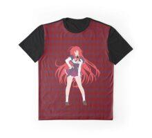 Rias Gremory - Checkered (No Name) Graphic T-Shirt