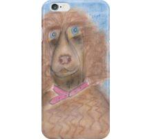 Sad Poodle-Miss you! iPhone Case/Skin