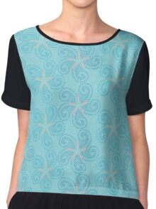 Swirling Starfish Chiffon Top