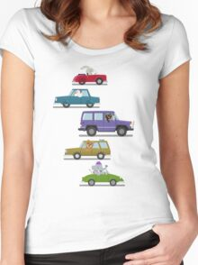 Animals In Cars Women's Fitted Scoop T-Shirt
