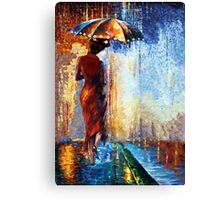 Mary the Umbrella Girl abstract art painting Canvas Print