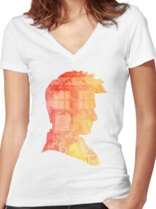 Doctor Who-David Tennant Women's Fitted V-Neck T-Shirt