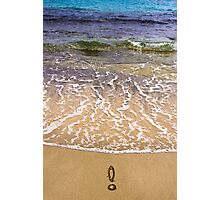 Exclamation point on the sand Photographic Print