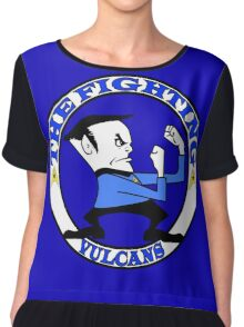 The Fighting Vulcans with logo Chiffon Top
