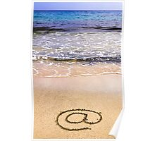 Email sign on sand Poster