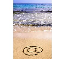 Email sign on sand Photographic Print