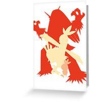 Pokemon - Torchic-Combusken-Blaziken Evolution Trio Greeting Card