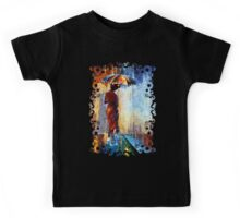 Mary the Umbrella Girl abstract art painting Kids Tee