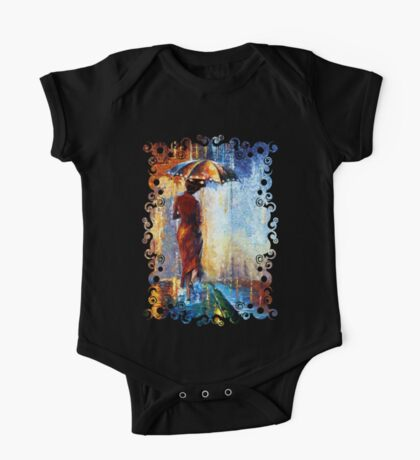 Mary the Umbrella Girl abstract art painting One Piece - Short Sleeve