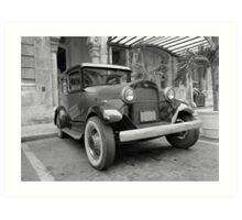 Vintage car Art Print