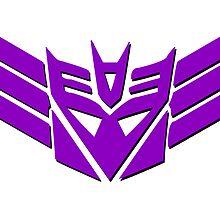 Tranformers Decepticon Logo by RockabillyAnt