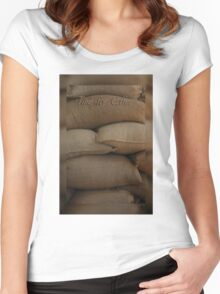 Coffee Time Card © Vicki FerrarI Women's Fitted Scoop T-Shirt