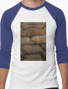 Coffee Time Card © Vicki FerrarI Men's Baseball ¾ T-Shirt
