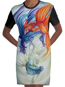 The Flow Graphic T-Shirt Dress