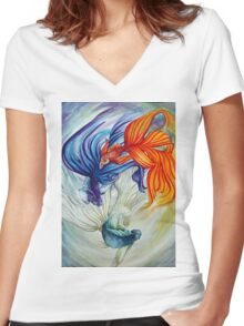 The Flow Women's Fitted V-Neck T-Shirt