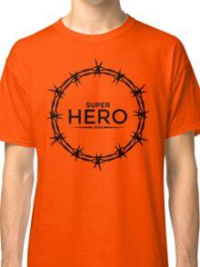 Hero Jesus Crown Thorns Razor Wire  Classic T-Shirt