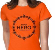 Hero Jesus Crown Thorns Razor Wire  Womens Fitted T-Shirt